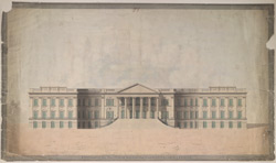 Elevation of the N.W. front of the New Government House, Calcutta